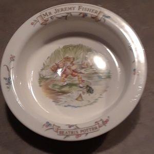Beartix Potter's Jeremy Fisher bone china bowl